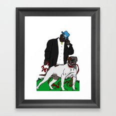 me and my bitch Framed Art Print