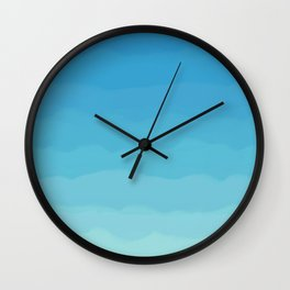 Powder Blue, Periwinkle Lacey Waves Wall Clock