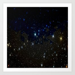 SPACE BACKGROUND Art Print