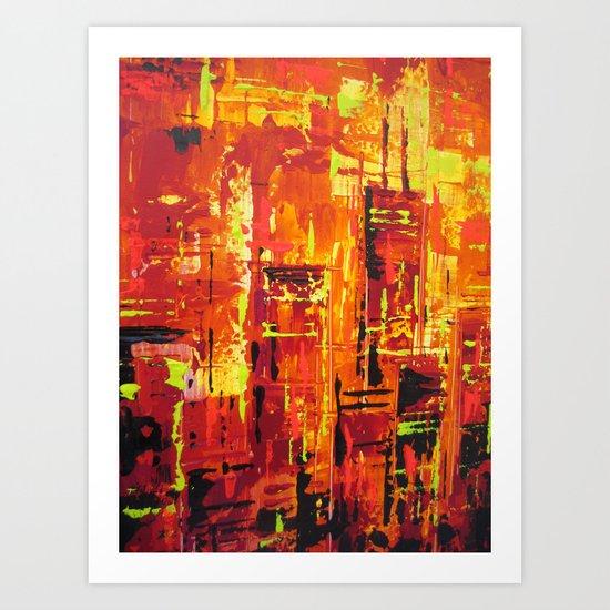 Chicago Fire Art Print