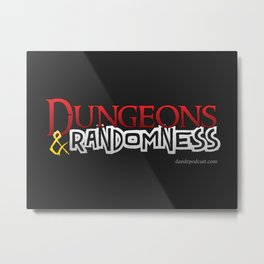 D&R Logo on Black Metal Print