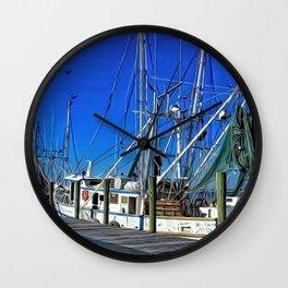 Waterfront, Apalachicola, Florida Wall Clock