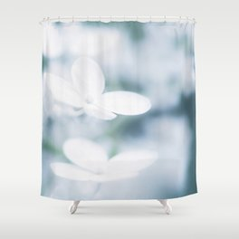Beautiful white hydrangea blossoms. Shower Curtain