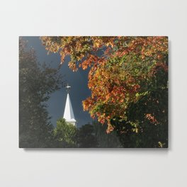 Church in Autumn Metal Print