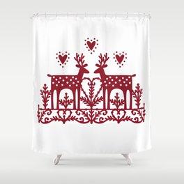 Scandinavian Reindeer Papercut Shower Curtain