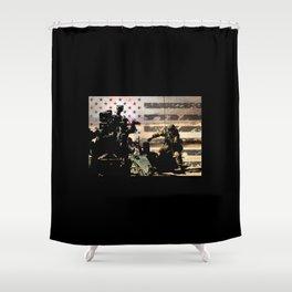 Artillery Gunner Shower Curtain