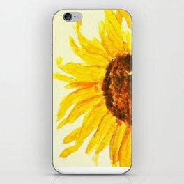 sunflower macro iPhone Skin