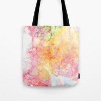 bubbles Tote Bags featuring Bubbles by emilie
