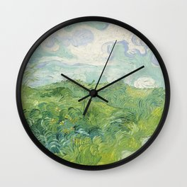 Vincent van Gogh Green Wheat Fields, Auvers 1890 Painting Wall Clock