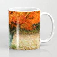 van gogh Mugs featuring Van Gogh Autumn by ThePhotoGuyDarren
