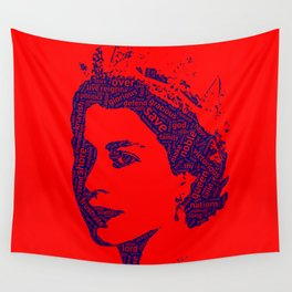 God Save The Queen Wall Tapestry