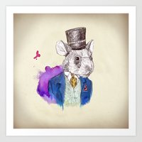 hamster Art Prints featuring hamster by Amit Shimoni