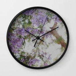 Purple Flowers Dream Wall Clock