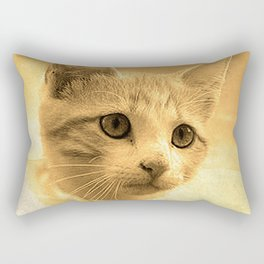 Baseball Kitten #1 Rectangular Pillow