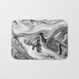 Mizuki - spilled ink marbling paper marble swirl abstract painting original art india ink minimal Bath Mat