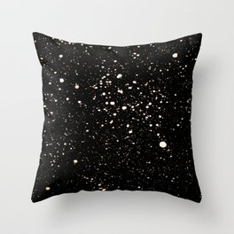 Gold Stars in the Night Throw Pillow