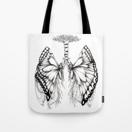 Butterfly Lungs Tote Bag