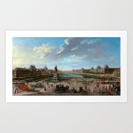 Jean-Baptiste Raguenet A View of Paris from the Pont Neuf Art Print
