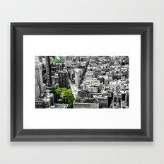NYC - City Green Framed Art Print