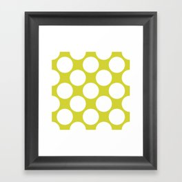 Polka Dots Green Framed Art Print