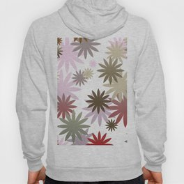Wild Flowers pattern brown Hoody