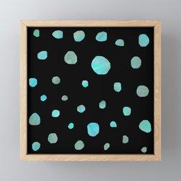 Blue meteorites Framed Mini Art Print