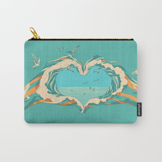 My Heart & The sea Carry-All Pouch