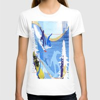 snowboarding T-shirts featuring Snowboarding by Robin Curtiss