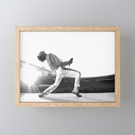 FreddieMercury Wembley Framed Mini Art Print