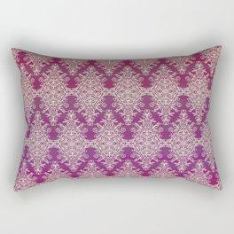 Cream Lace Pattern Rectangular Pillow