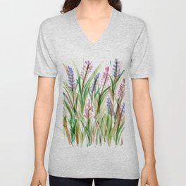 Lavender Watercolor No. 1 Unisex V-Neck