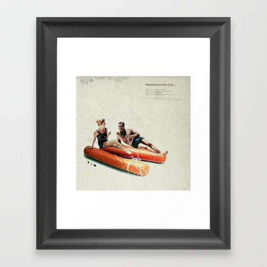 Summer in the City | Collage Framed Art Print