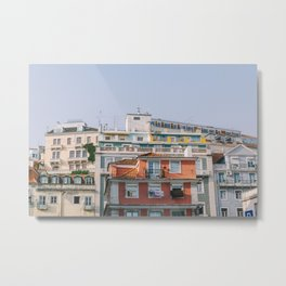 Lisbon City Rooftops, Portugal Metal Print