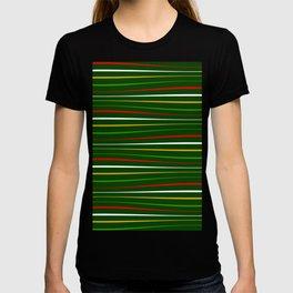 Wavy Stripes in Christmas Theme III T-shirt