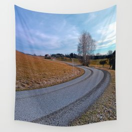 Country road into far distance | landscape photography Wall Tapestry
