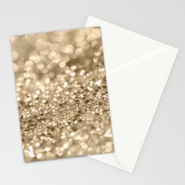 Champagne Gold Lady Glitter #2 #shiny #decor #art #society6 Stationery Cards