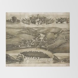 Aerial View of Valley Forge, Pennsylvania (1890) Throw Blanket