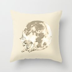 In which a wolfy moon thing happens Throw Pillow