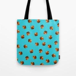 Acorn Pattern-Sky Blue Tote Bag