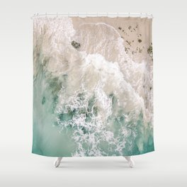 Frothy Fourth Beach Shower Curtain