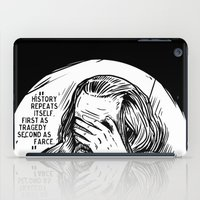 marx iPad Cases featuring Facepalm Marx by Velozee
