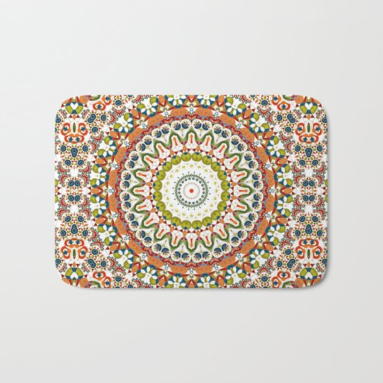 Abstract Ethnic ornament. Rustic . Bath Mat