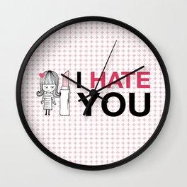 I Hate You / Lipstick Wall Clock