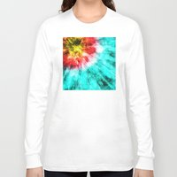 tie dye Long Sleeve T-shirts featuring Colorful Tie Dye by Phil Perkins