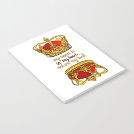 My crown is in my heart Notebook