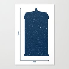 Tardis, Space and Time Canvas Print