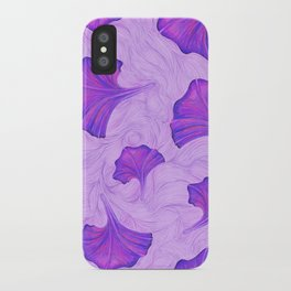 Purple Trumpet Flower Pattern - painting iPhone Case