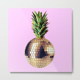 Ananas party (pineapple) Pink version Metal Print