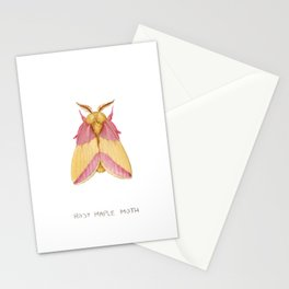Rosy Maple Moth Stationery Cards