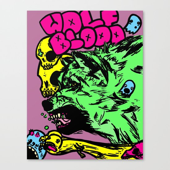 Wolf Blood Redux Canvas Print